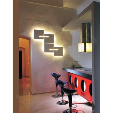 Lampa stołowa gabinetowa Solo1 kolor patyna z podstawą drewnianą z włącznikiem dotykowym